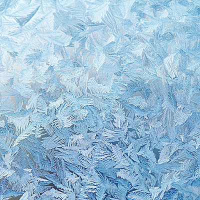 Ice crystals on glass - p312m1063334f by Sara Danielsson