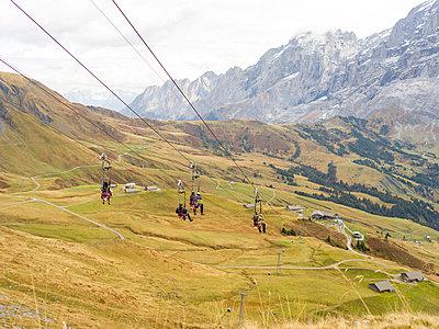 Skilift im Berner Oberland - p1267m1514212 von Wolf Meier