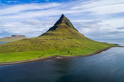 Kirkjufell mountain on the Snaefellsnes Peninsula; Iceland - p442m1580592 by Robert Postma
