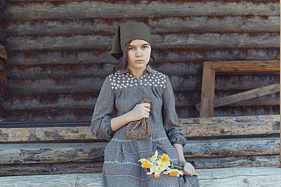 Rustic girl - p1476m2027012 by Yulia Artemyeva