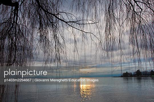 Geneva lake. Lausanne. Switzerland - p1403m2294667 by Giovanni Mereghetti/Education Images
