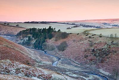 River Barle in the Cornham Brake valley on a frosty winter morning, Simonsbath, Exmoor National Park, Somerset, England, United Kingdom, Europe - p8713013 by Adam Burton