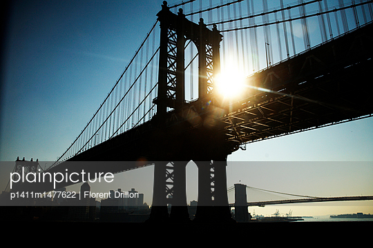Brooklyn Bridge - p1411m1477622 von Florent Drillon
