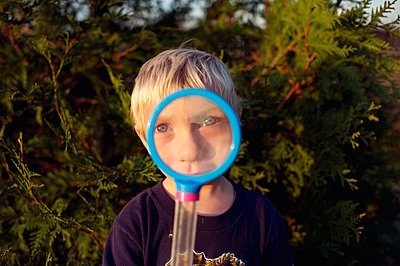 Boy with Magnifying Glass - p1169m1054857 by Tytia Habing