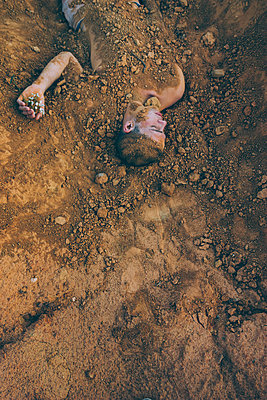 Body Buried in Dirt - p1262m1072840 by Maryanne Gobble