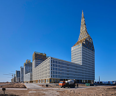 Russia, St. Petersburg, Residential construction, New buildings - p390m2283941 by Frank Herfort