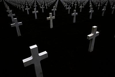 Amerikanischer Soldatenfriedhof am Omaha Beach - p415m822863 von Tanja Luther