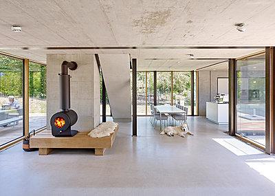 Luxuriöses Wohnzimmer - p1209m2217557 von Guido Erbring