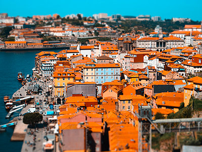 Portugal, View of Porto - p1681m2263288 by Juan Alfonso Solis