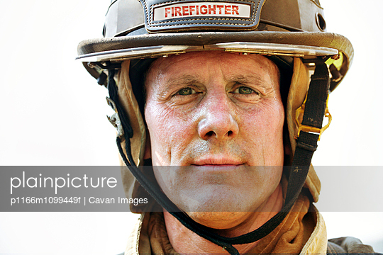 Portrait of firefighter