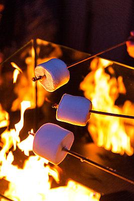 Roasting marshmallows - p427m1556504 by Ralf Mohr