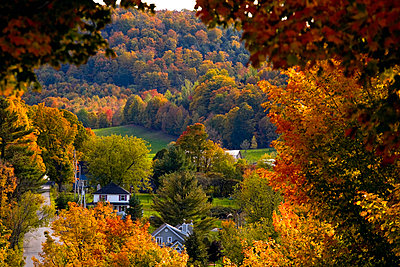 Rural town, Quebec, Canada - p4429386f by Design Pics