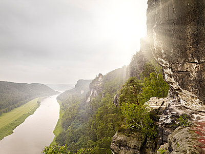 River in Saxon Switzerland - p926m865403 by C. Müller