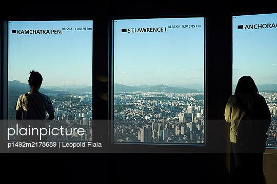 Korea, N Seoul Tower, View over Seoul - p1492m2178689 by Leopold Fiala