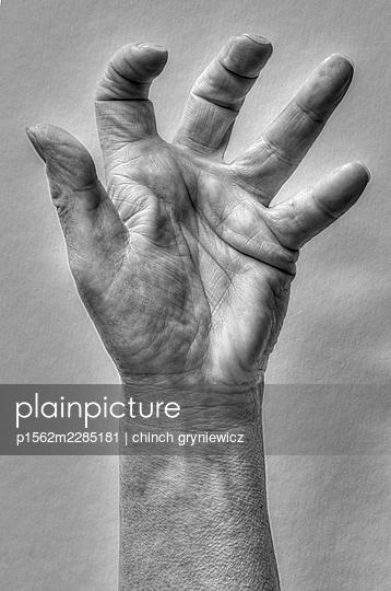 Hand sign, claw - p1562m2285181 by chinch gryniewicz