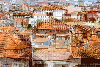 Hausdächer in Porto - p1423m2013672 von JUAN MOYANO