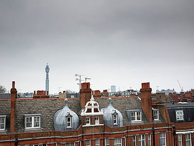 View of rooftops in London - p388m702080 by Andre