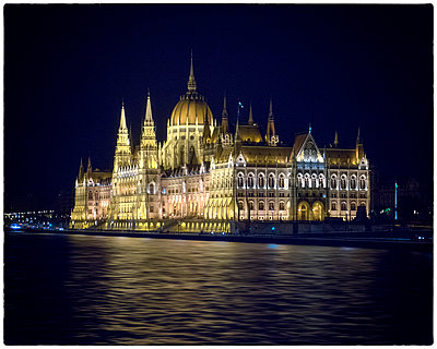 Parliament building in Budapest - p1154m1110198 by Tom Hogan