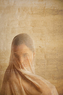 Woman under a cloth - p4020483 by Ramesh Amruth