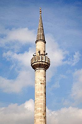 Minaret in Istanbul - p3820275 by Anna Matzen