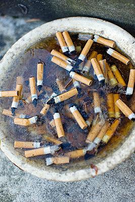 Cigarette Butts In Ashtray - p816m913135 by Nicki Twang