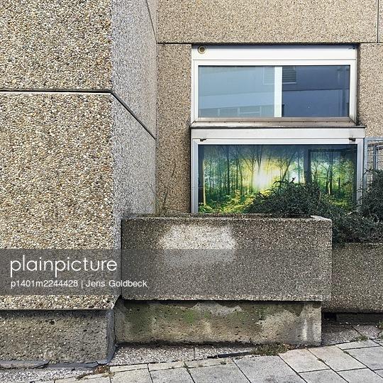Austria, Vienna, Building made of exposed aggregate concrete - p1401m2244428 by Jens Goldbeck