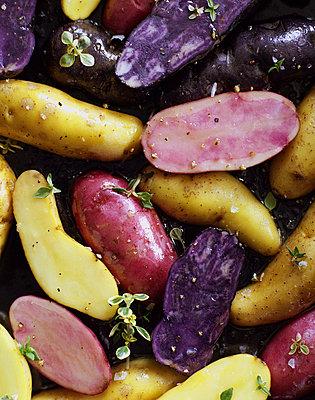 Purple potatoes - p9380012 by Christina Holmes