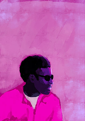 Illustration of a man in pink - p1541m2263694 by Ruth Botzenhardt