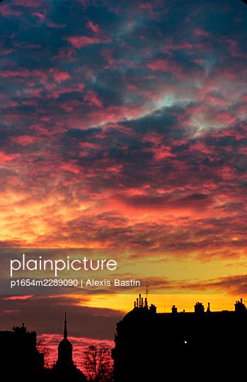 Paris, Sunset - p1654m2289090 by Alexis Bastin