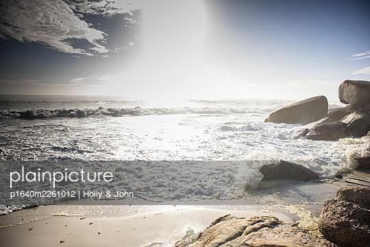 Surf on the rocky coast - p1640m2261012 by Holly & John