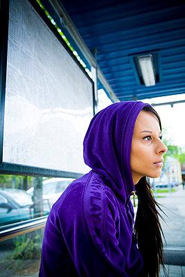 Girl with hood - p4130085 by Tuomas Marttila