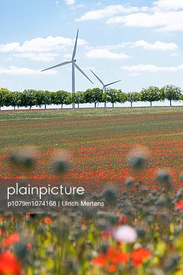 Windkraft, Frankreich - p1079m1074168 von Ulrich Mertens