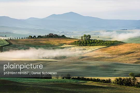 Landschaft bei Pienza, Val d`Orcia, Provinz Siena, Toskana, Italien, UNESCO Welterbe - p1316m1161057 von Daniel Schoenen