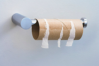 Finished toilet roll - p9249089f by Image Source