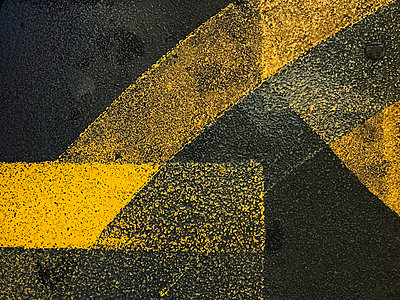 Yellow road line abstract - p1048m2016438 by Mark Wagner