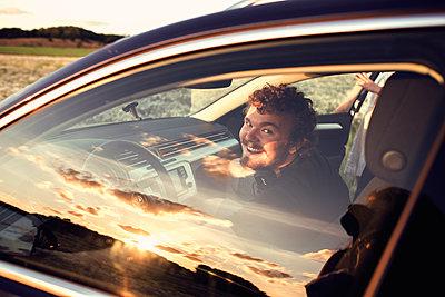 In the car - p1507m2037884 by Emma Grann
