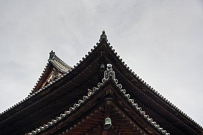 Wooden Temple in Tō-ji Temple in Kyoto, Japan. - p1166m2200345 by Cavan Images