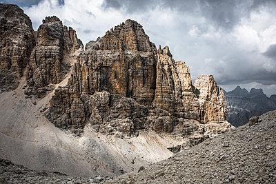 Rock peak in the Pisciadu via ferrata, Dolomites, Sella group, Alta Badia, South Tirol, Italy, Europe - p1062m2199757 by Viviana Falcomer