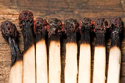 Burnt matches - p4510877 by Anja Weber-Decker