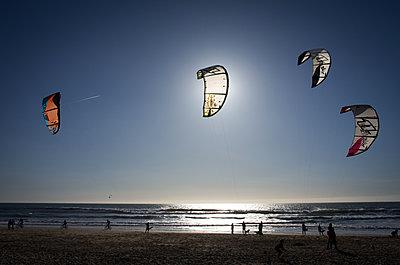 Kitesurfers - p1072m1163402 by Nick Gurney