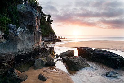 Beach at sunset - p312m1164563 by Fredrik Ludvigsson