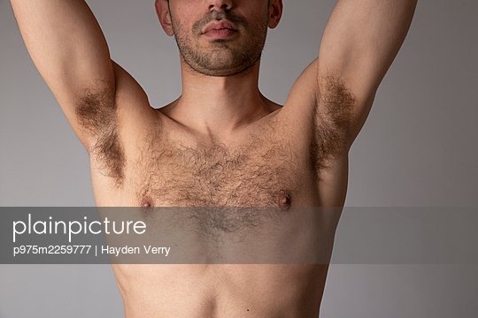 Bare-chested young man - p975m2259777 by Hayden Verry