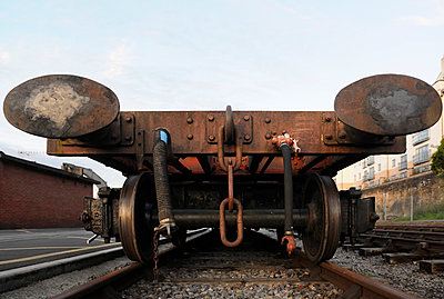 Old railway truck - p1048m1080121 by Mark Wagner