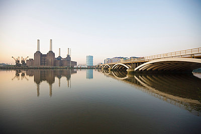 Battersea Power Station and River Thames, London, England, United Kingdom, Europe - p8711458 by Neil Emmerson