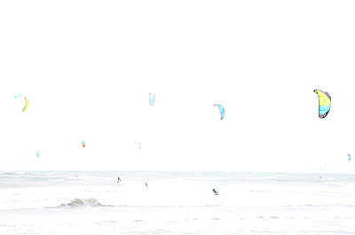 Kite surfing by the sea - p1289m1467898 by Elisabeth Blanchet
