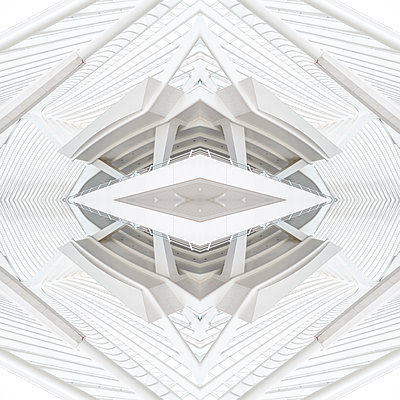 Abstract kaleidoscope pattern Liège-Guillemins station in Liège - p401m2209311 by Frank Baquet