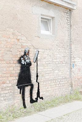 Flötenspieler Stencil - p089m933186 von Gerd Olma