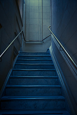 Staircase with blue colors - p1170m1111609 by Bjanka Kadic