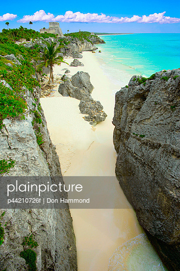 A Tropical Beach, Tulum, Mayan Riviera, Mexico