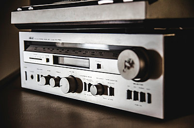 Old Stereo Receiver and Amplifier - p694m1045762 by Eric Schwortz